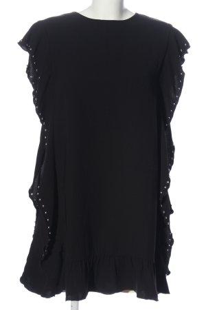 Mango Kurzarm-Bluse schwarz Elegant