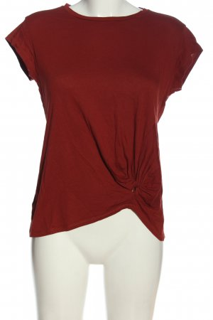 Mango Kurzarm-Bluse rot Casual-Look