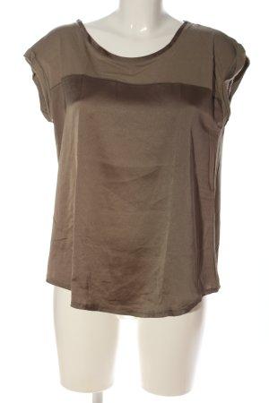 Mango Short Sleeved Blouse grey brown-green grey viscose