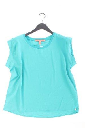 Mango Short Sleeved Blouse turquoise polyester
