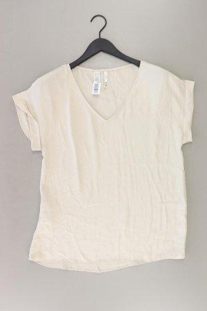 Mango Kurzarmbluse Größe XS creme aus Polyester
