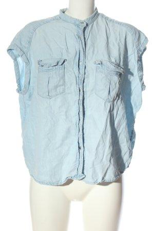 Mango Kurzarmhemd blau Casual-Look
