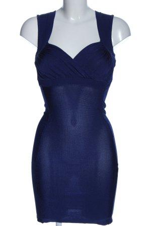 Mango Kurzarmkleid blau Casual-Look