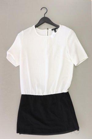 Mango Sukienka z krótkim rękawem w kolorze białej wełny Poliester