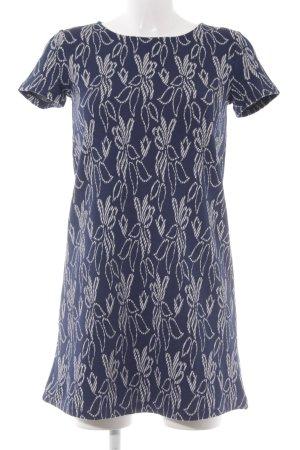 Mango Kurzarmkleid weiß-dunkelblau Casual-Look