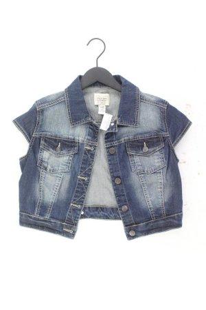 Mango Kurze Jeansjacke Größe S blau aus Baumwolle