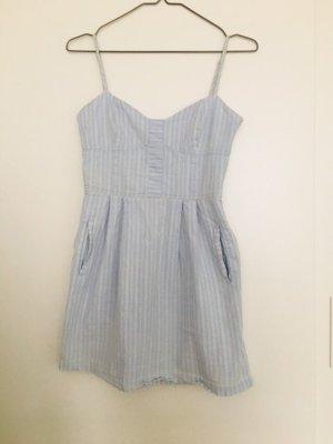 Mango Kurze Kleid hellblau weiß Streifen