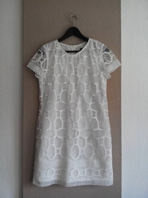 Mango collection Robe en dentelle blanc cassé polyester