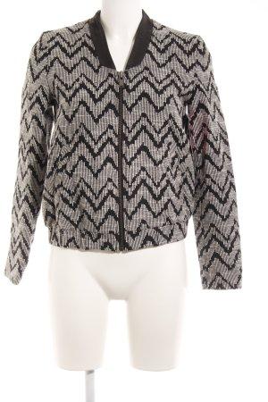 Mango Kurzjacke schwarz-weiß Streifenmuster Casual-Look