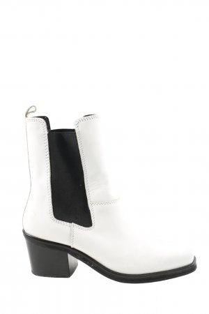 Mango Short Boots white-black casual look