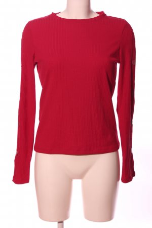 Mango Langarm-Bluse rot Casual-Look