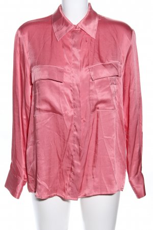 Mango Langarm-Bluse pink Business-Look