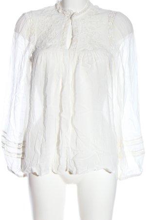 Mango Langarm-Bluse weiß Casual-Look