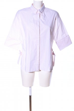 Mango Langarm-Bluse pink-weiß Streifenmuster Business-Look