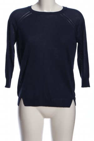 Mango Langarm-Bluse blau Casual-Look
