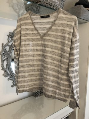 Mango Long Shirt white-grey