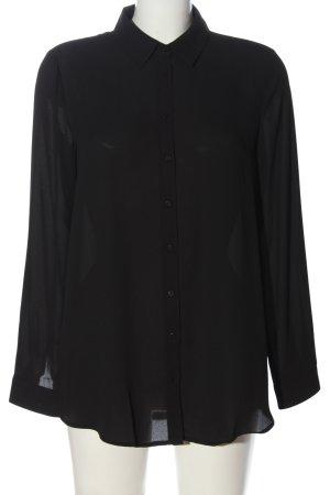 Mango Langarmhemd schwarz Casual-Look