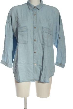 Mango Langarmhemd blau Casual-Look