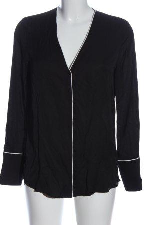 Mango Langarmhemd schwarz-weiß Casual-Look