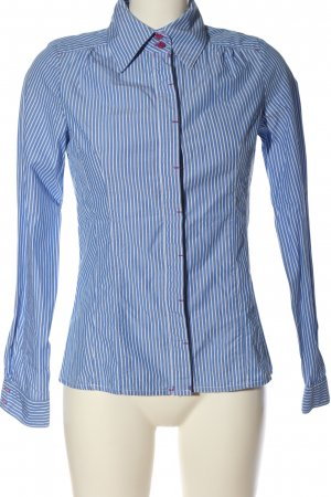 Mango Langarmhemd blau-weiß Streifenmuster Casual-Look