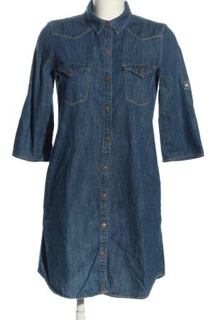 Mango Langarmkleid blau Casual-Look