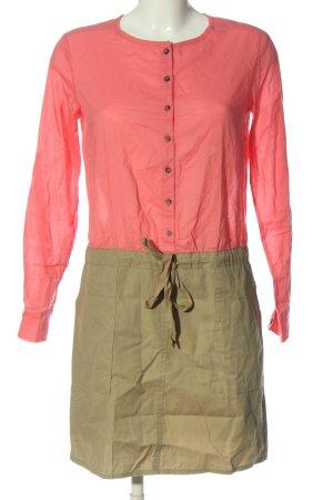 Mango Langarmkleid pink-grün Casual-Look