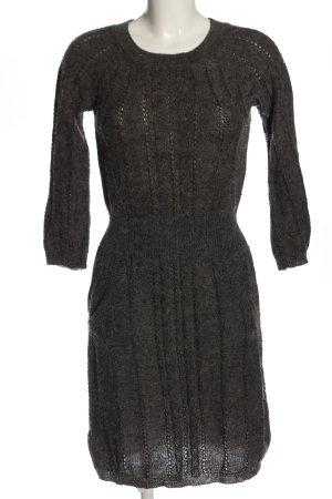 Mango Sukienka z długim rękawem jasnoszary Melanżowy W stylu casual