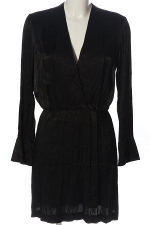 Mango Sukienka z długim rękawem czarny W stylu biznesowym