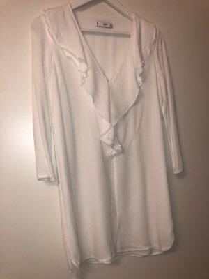 Mango Long Sleeve Blouse white