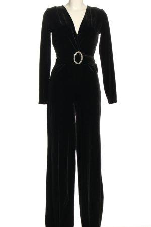 Mango Langer Jumpsuit schwarz Elegant