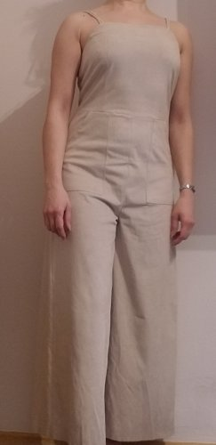 Mango casual Dungarees natural white-oatmeal