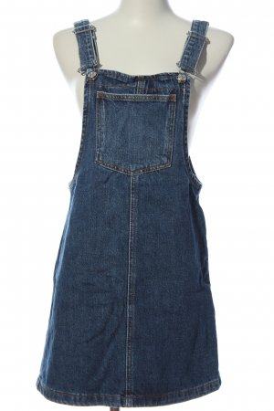 Mango Pinafore Overall Skirt blue casual look