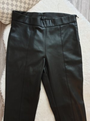 Mango Pantalone in pelle nero