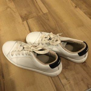 Mango Leder Snealer in weiß blau