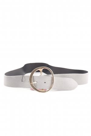 Mango Leather Belt pale blue-gold-colored casual look