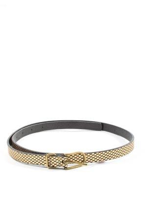 Mango Cinturón de cuero de imitación color oro-negro look casual