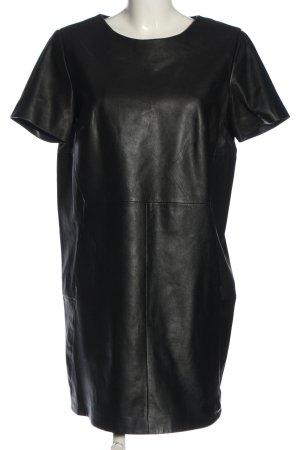 Mango Leren jurk zwart casual uitstraling