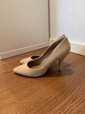 Mango Lederpumps Schuhe High Hells Nude