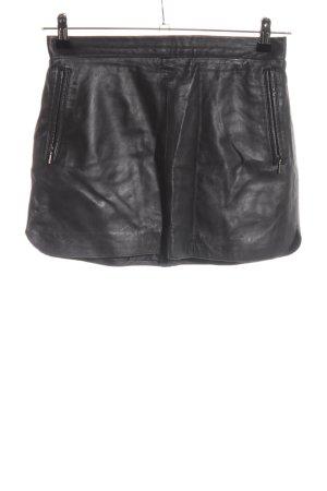 Mango Leather Skirt black casual look