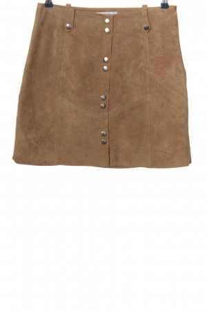Mango Leather Skirt natural white casual look
