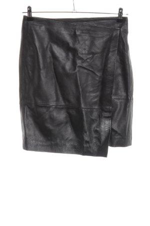 Mango Leather Skirt black business style