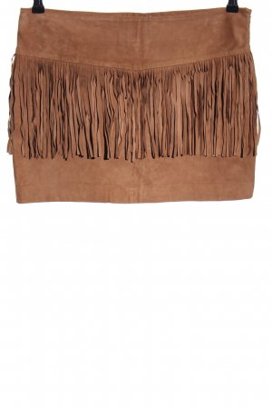 Mango Leather Skirt brown casual look