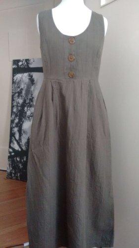 Mango Leinen Kleid Khaki