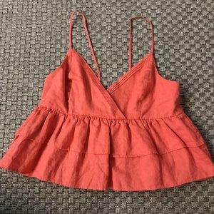 Mango Suit Camisola salmón-rojo claro Lino