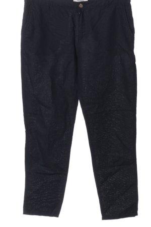 Mango Lniane spodnie czarny W stylu casual