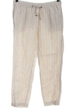 Mango Pantalón de lino blanco puro-blanco estampado a rayas look casual