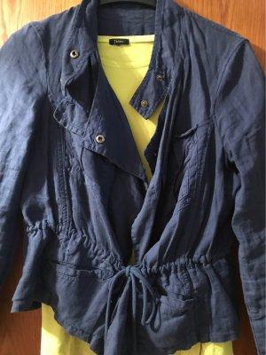 Mango Długa kurtka ciemnoniebieski-niebieski