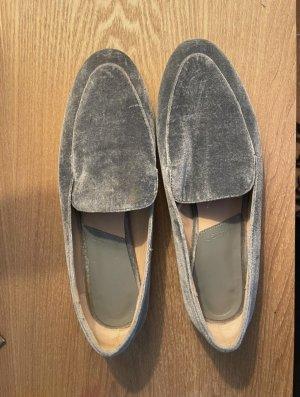 Mango Zapatos sin cordones color plata-azul celeste