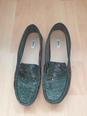 Mango Slippers dark green