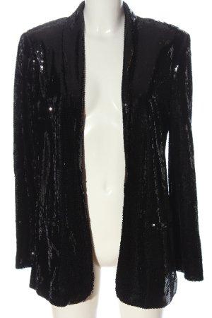 Mango Blazer largo negro elegante